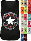 New Womens Converse Logo Print Ladies Sleeveless Racer Muscle Back Vest Top 8-14