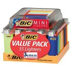 55 BIC Mini Sized Lighters Wholesale Lot  w/ Display Tray фото