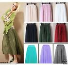 Fancy Tulle Drape Long Skirt Candy Dress Tulle Maxi Skirt - S/M L/XL