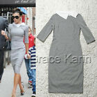 New Office Womens Celeb Pinup 2/3 Sleeve Lapel Collar Bodycon Party Pencil Dress