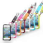 New Vertical Pouch With Neck Lanyard Leather Phone Case For Apple iPhone 5 5S 5C