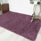 SMALL LARGE THICK SOFT MAUVE PURPLE SHAGGY RUGS NON SHED 5cm PILE MODERN RUGS