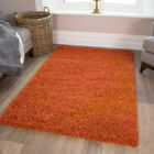Non Shedding Terracotta Large Cheap shaggy Mats Super Soft Orange Fireplace Rugs