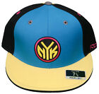New! New York Knicks - Fitted 3D Embroidered Cap - Reebok - Blue/Black/Yellow
