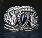 LOTR Movies Aragorn's Sterling Silver Ring of Barahir Marquise Blue BJ29 SZ 8.5