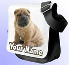 SHAR PEI DOG PERSONALISED SHOULDER / HAND BAG *Choice of 3 colour's* NAMED GIFT