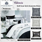 VALENCIA White Quilt Cover Set by Platinum Collection - QUEEN KING Super King