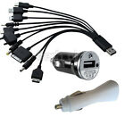 10 In 1 USB Universal Cell Mobile Phone Multi Cable + Car Charger Adapter
