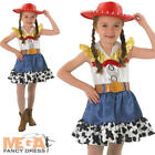 Jessie + Hat Toy Story Girls Fancy Dress Kids Cowgirl Disney Western Costume New