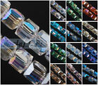 10/40pcs 10mm Cube Square Charms Finding Loose Glass Crystal Spacer Beads
