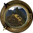 Huge 3D Porthole Lost Civilisation View Wall Stickers Film Mural Decal Wallpaper