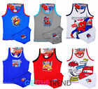 Boys Spiderman Cars Mcqueen Vest & Underpants Set Kids 2-8 Years Cotton Briefs