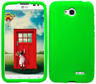 NEON GREEN Silicone Case Skin Gel Cover for LG Optimus L70