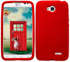 RED Silicone Case Skin Gel Cover for LG Optimus L70