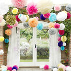"Tissue Paper Pom Poms Flower Balls Wedding Party Shower 6""/ 8""/10""/12""/15"" Decor"