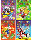 A4 ACTIVITY BOOKS NUMBER PUZZLES,COLOURING,DOT TO DOT,WORD SEARCH,MAZES & MORE