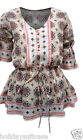 NEW LADIES WOMANS BOHO GYPSY FLATTERING SUMMER HOLIDAY TOP SIZE 10-30 UK