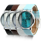 New Style Watches Stainless Steel Womens/Mens Leather Quartz Wrist Watch
