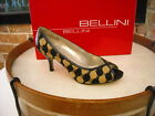 Bellini Tabet Black & Brown Woven Fabric Peep-toe Pump NEW