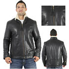 Andrew Marc New York Men's Shearling Leather Jacket Moto Motorcycle
