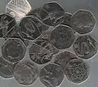 50p British coins circulated OLYMPICS 2012 London -different designs choose