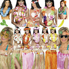 Adult Womens Mens Hawaiian Accessories Hula Garland Lei Kit Fancy Dress Hawaii