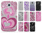 For LG Volt LS740 F90 Crystal Diamond BLING Hard Case Cover + Screen Protector