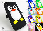 for Apple iPhone 5 5s Penguin Soft Silicone Case + Pry Tool Package Cover Gel