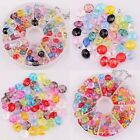 80pcs/100pcs New Colorful  Faceted Acrylic Rondelle Loose Spacer Beads 8/ 6mm