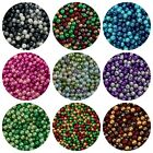 Round Glass PEARL Beads 400 x 4mm 200 x 6mm 100 x 8mm 50x 10mm 25 NEW COLOURS ML
