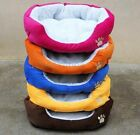 Super Warm Puppy Pet Dog Cat Bed House Basket Nest Mat Waterproof Soft Fleece UK