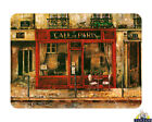Glass Chopping Board Cafe De Paris Retro Kitchen Worktop Saver 3 Sizes