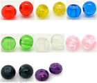 200 Crackle Glass Round Beads 6mm M0155