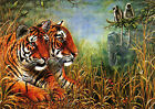 NEW Glass Chopping Board Jungle Scene Tiger Wild Animals Kitchen Worktop Saver