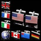 Buy 2 Get 1 Free National Flag Silver Golden Wedding Suit Shirt Men's Cufflinks
