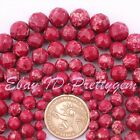 """6,8,10,12MM FACETED ROUND PURPLE IMPERIAL JASPER GEMSTONE LOOSE BEADS STRAND 15"""""""
