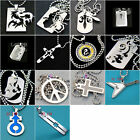 b202m47 Cool Men's Stainless 316L Steel Polished Pendant Necklace Mixed Styles