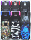Samsung Galaxy S4 Active / SGH-I537 / GT-i9295 Phone Cover HYBRID T-STAND Case