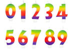 Rainbow Numeral Number Candle from Wilton Choose the number you want
