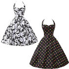 Vintage 50s Rockabilly Retro Formal Evening Tea Party Prom Cocktail Swing Dress