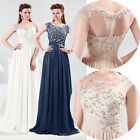 NEW Long Chiffon Evening Party Ball Gown Prom Bridesmaid WeddingDress UK:6~20