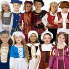 Medieval Tudor Fancy Dress Childrens Book Week Renaissance Brand New Costumes
