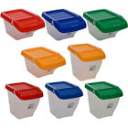 RECYCLING PLASTIC STACKABLE STORAGE PICKING BOX BOXES BIN WITH HINGED LID WASTE