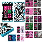 Nokia Lumia 521 T-Mobile Hybrid T Armor Case Skin Cover + Screen Protector