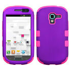 Samsung Galaxy Exhibit T599 IMPACT TUFF HYBRID Case Skin Cover + Screen Guard