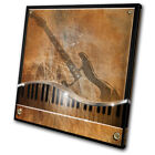Musical Music Piano/Guitar  SINGLE CANVAS WALL ART Picture Print VA