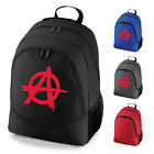 Anarchy A Symbol Punk Rock School Work Backpack Rucksack Bag NEW