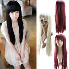 3 Color New Style Fashion Long Straight Women's Girl Full Hair Wig Cosplay Party