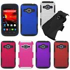 For ZTE Concord II Z730 Cover Apex Hybrid Soft Hard Mesh Case Phone Accessory