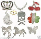 HIGH QUALITY IRON-ON CHATON DIAMANTE DIAMOND CRYSTAL DIY TRANSFER PATCH APPLIQUE